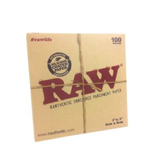 RAW PARCHMENT 3″X3″ SHEETS – 100 PACK