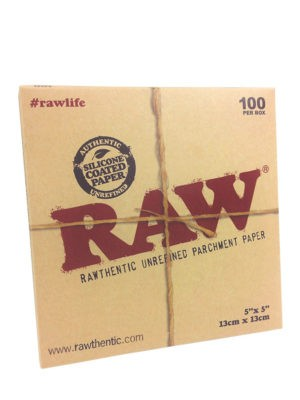 RAW PARCHMENT 5″X5″ SHEETS – 100 PACK