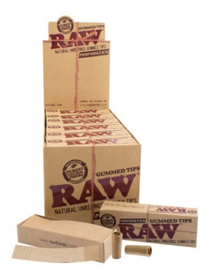 RAW TIPS – GUMMED PERFORATED
