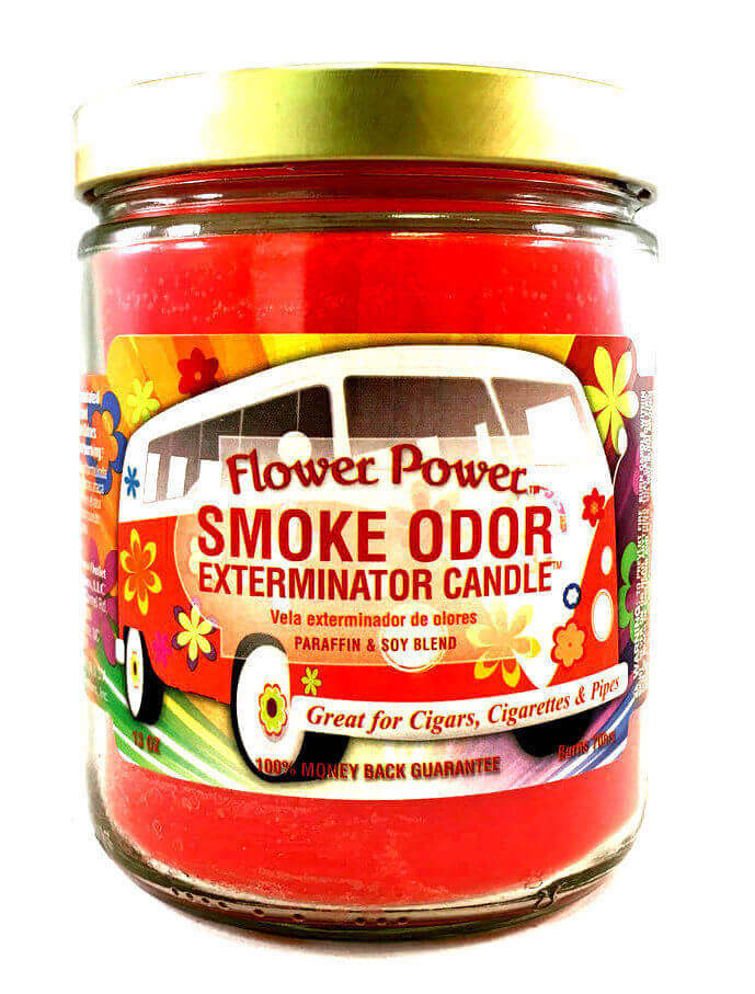 Smoke Odor 13oz Candle Flower Power