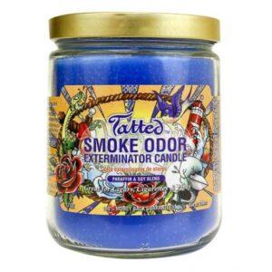 Smoke Odor 13oz Candle Tatted