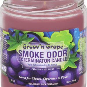 Smoke Odor Exterminator Candle 13oz jar, Groov'n Grape