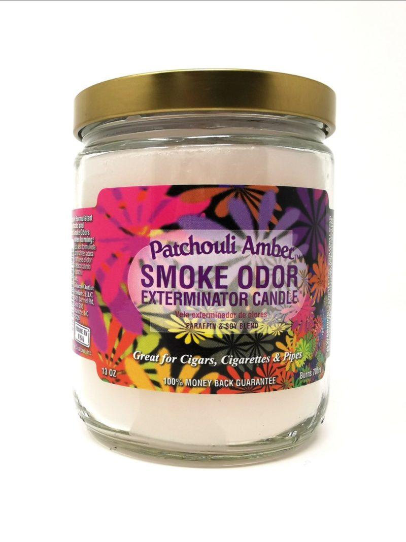 Smoke Odor Patchouli Amber 13oz Candle