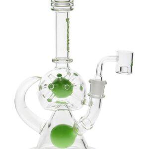 9.5 inch 15-Arm Spaceball Rig - Green
