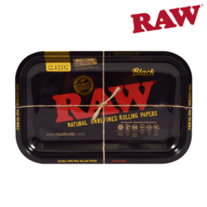 RAW BLACK ROLLING TRAY – MEDIUM