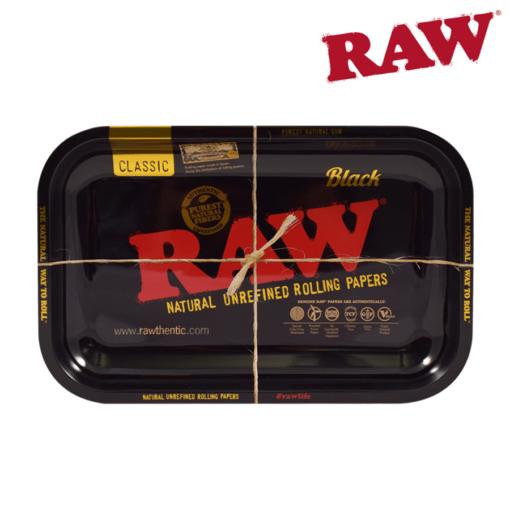 RAW BLACK ROLLING TRAY – MEDIUM