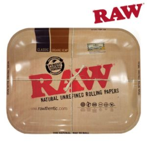 RAW METAL ROLLING TRAY – LARGE