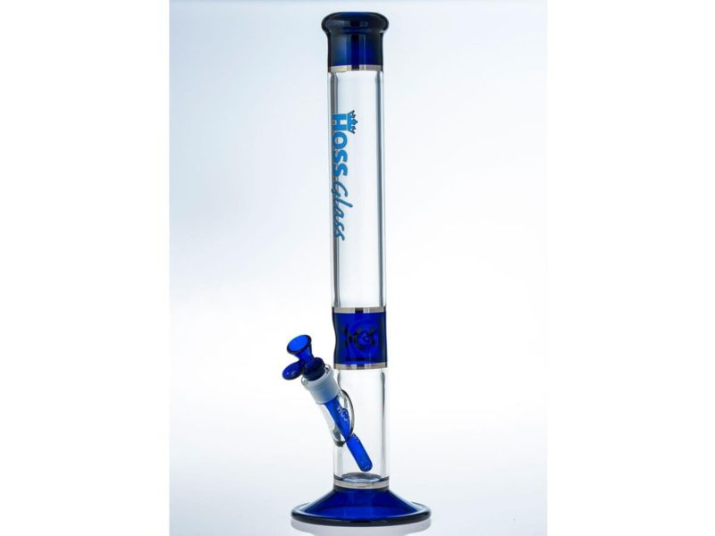 "HOSS Blue - Straight Tube Tri-Section Platinum Banded 18"" (Y042A5)"