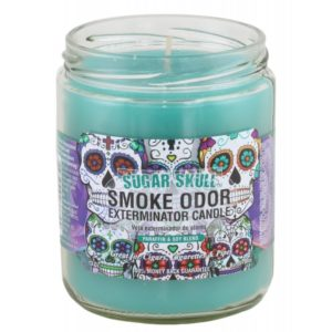 Smoke Odor Sugar Skull 13oz Candle