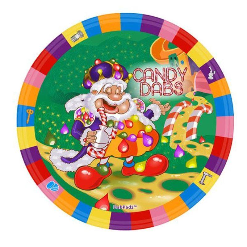 "DabPadz 8"" Round Fabric Top 1/4"" Thick - Candy Dabs"