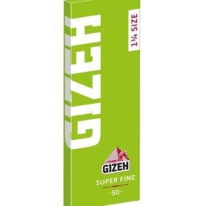 """GIZEH 1 1/4"""" - Super Fine w/ cut corners 50 papers per booklet"""