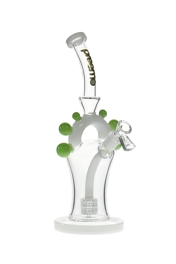 11.5 inch Matrix Perc Arch Bubbler(P066) - Aquamarine