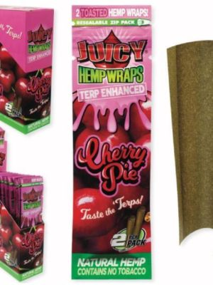JUICY TERP ENHANCED HEMP WRAPS – CHERRY PIE
