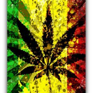 Rasta Leaf Flag
