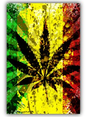 Rasta Leaf Flag