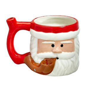 Premium Roast & Toast Ceramic Mug w/ Pipe - Santa Clause