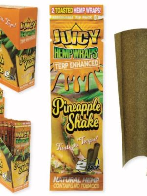 JUICY TERP ENHANCED HEMP WRAPS – PINEAPPLE SHAKE