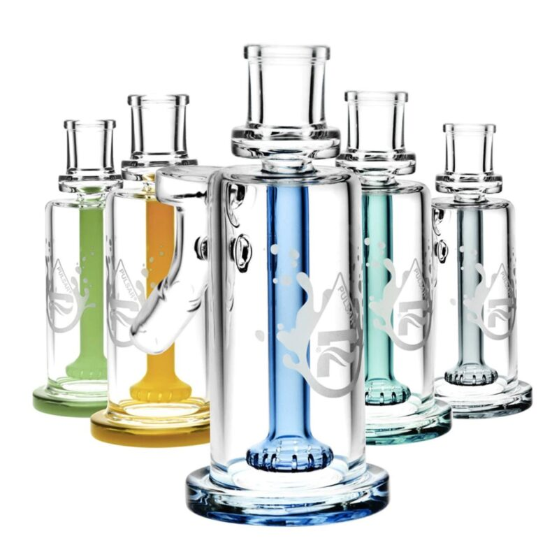 """BLUE Pulsar 5.5"""" 45° High Class 14mm Ash Catcher with Colour Accents"""