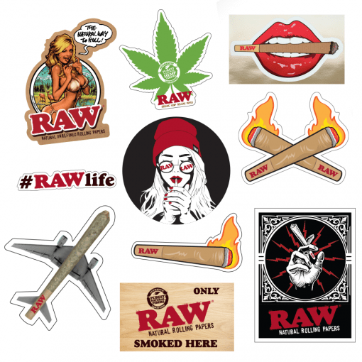 RAW ASSORTED STICKERS 7 FOR 5
