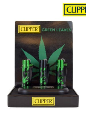 CLIPPER LEAVES GREEN CMP11 METAL LIGHTERS COLLECTION
