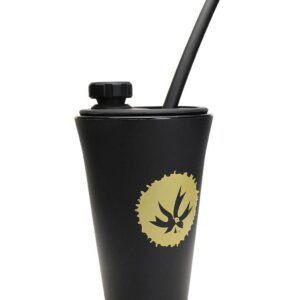 Black Piece Maker - Kommuter with Silipint - Silicone Drink Cup Topper w/ Cup