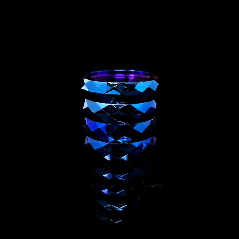 Infyniti Grinder Blue Shine 62mm 4 Part w/Storage