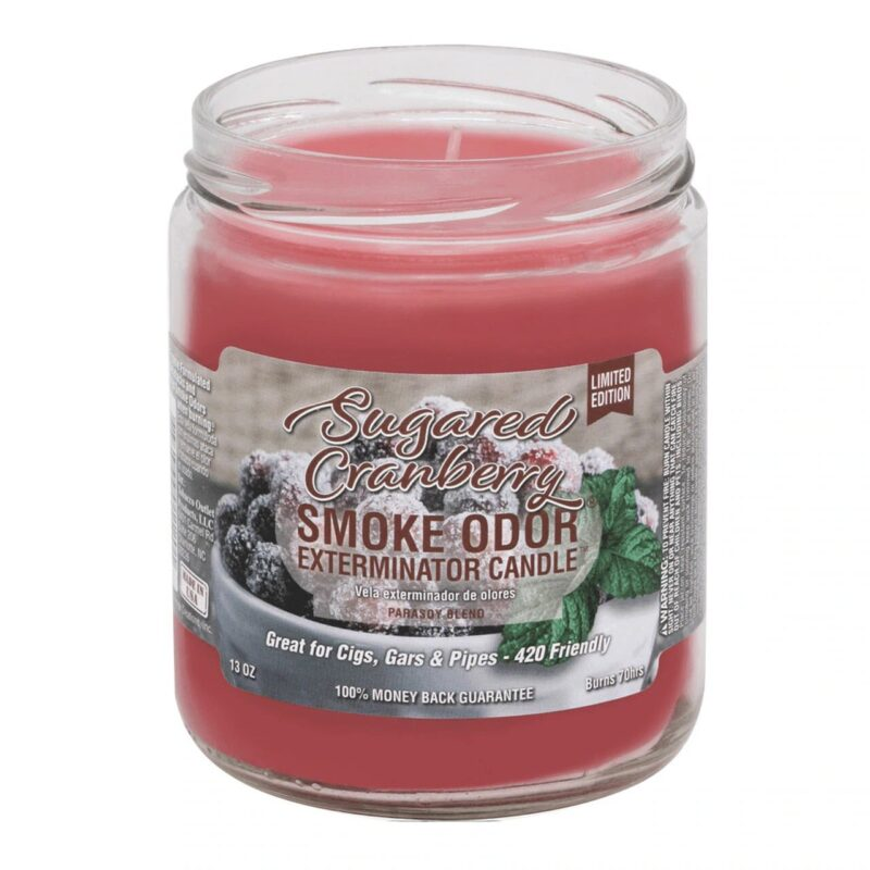 Smoke Odor - 13oz Candle - Sugared Cranberry - Limited Edition