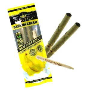 King Palm Banana Cream Terpene Infused Pre-Rolled Slims