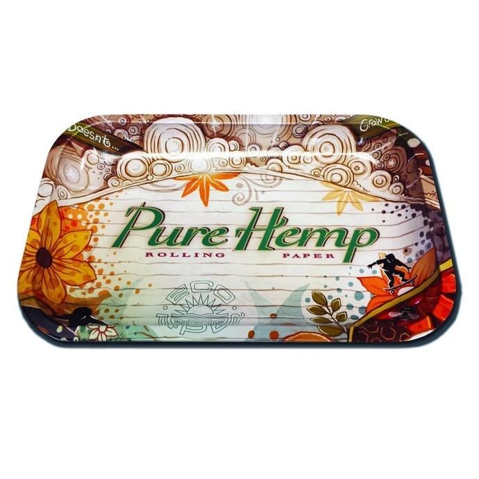 Pure Hemp Small 11 X 7 Inch Rolling Tray &Bull; 2021