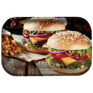 "Pulsar ""Burger World"" Large Metal Rolling Tray 11x7"