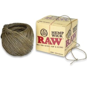 RAW NATURAL HEMP WICK 100FT