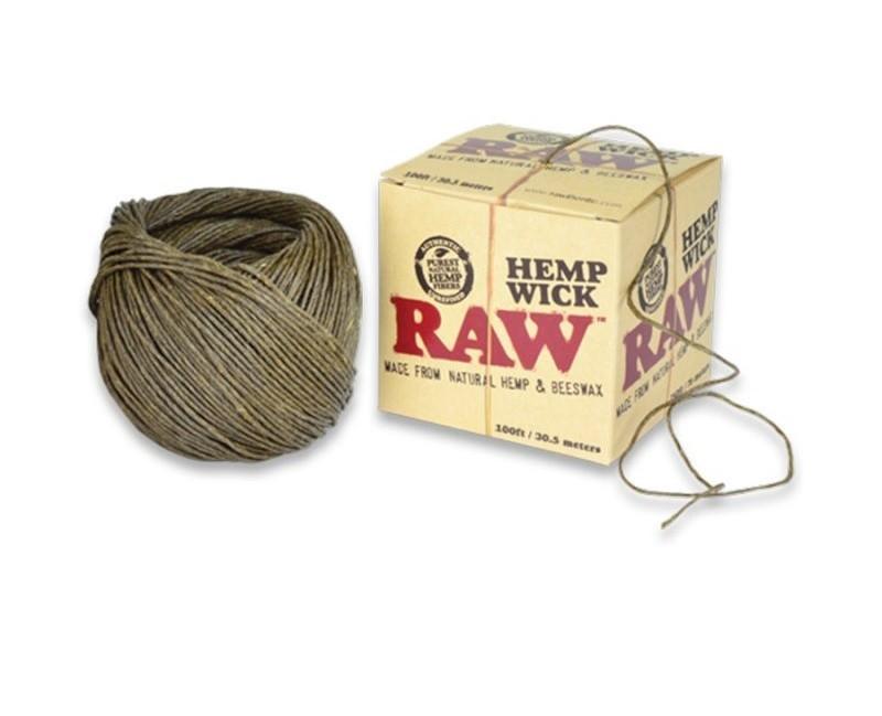 RAW NATURAL HEMP WICK 100FT