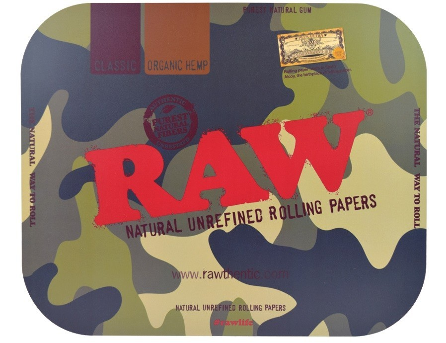 Raw Camo Rolling Tray Cover – Large &Bull; 2021