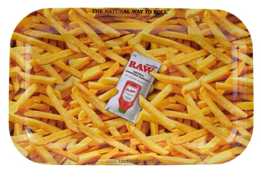 Raw French Fries Rolling Tray Small &Bull; 2021