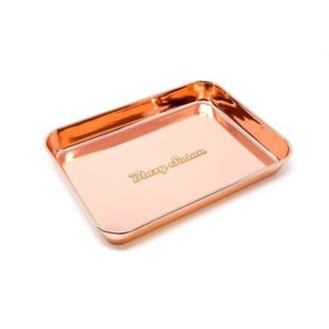Blazy Susan Rose Gold Stainless Steel Rolling Tray