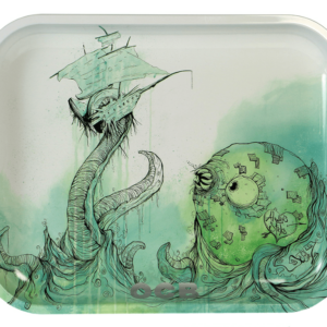 OCB 7.5x5.5 Metal Rolling Tray - Kraken