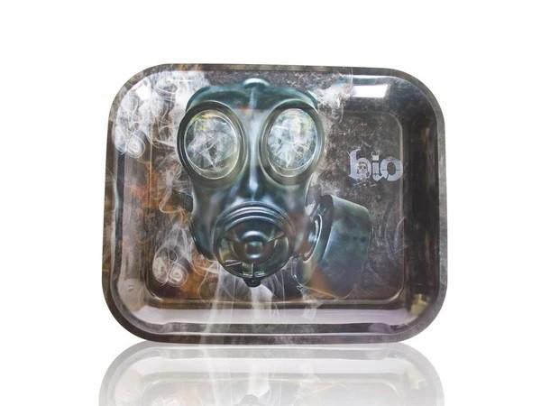 "BIO Glass Metal Rolling Tray - Large 13.5x11"""