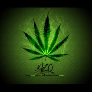 420 LEAF FLAG