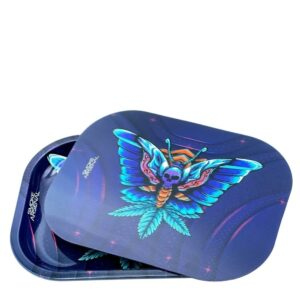 Butterfly Metal Tray With 3-D Magnetic Premium Tray Cover Bundle