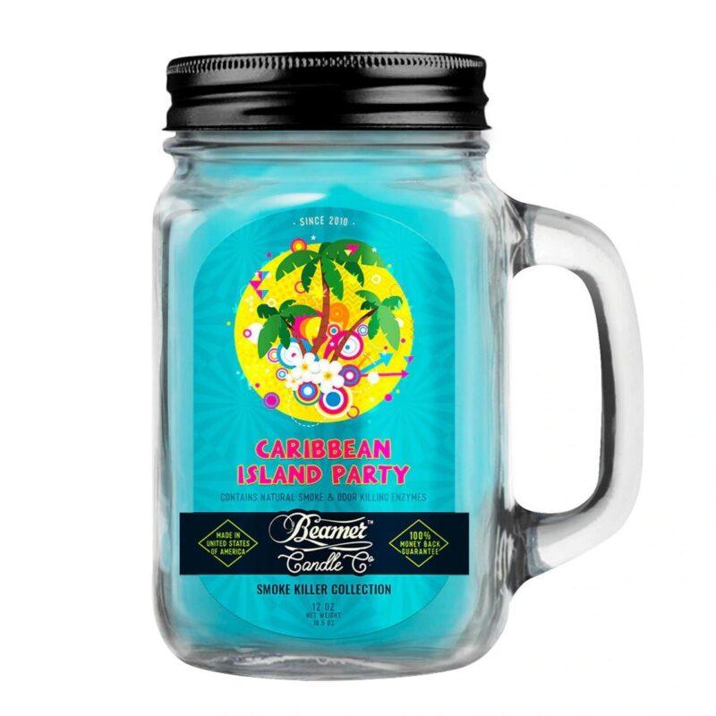 Beamer Candle Co - 12oz Glass Mason Jar - Caribbean Island Party
