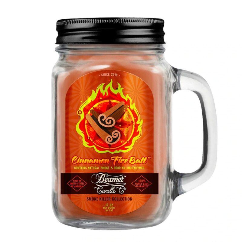 Beamer Candle Co - 12oz Glass Mason Jar - Cinnamon Fireball