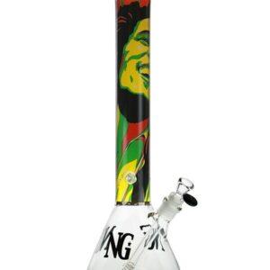 YN1099 | 18 inch 7mm Bob Marley Beaker