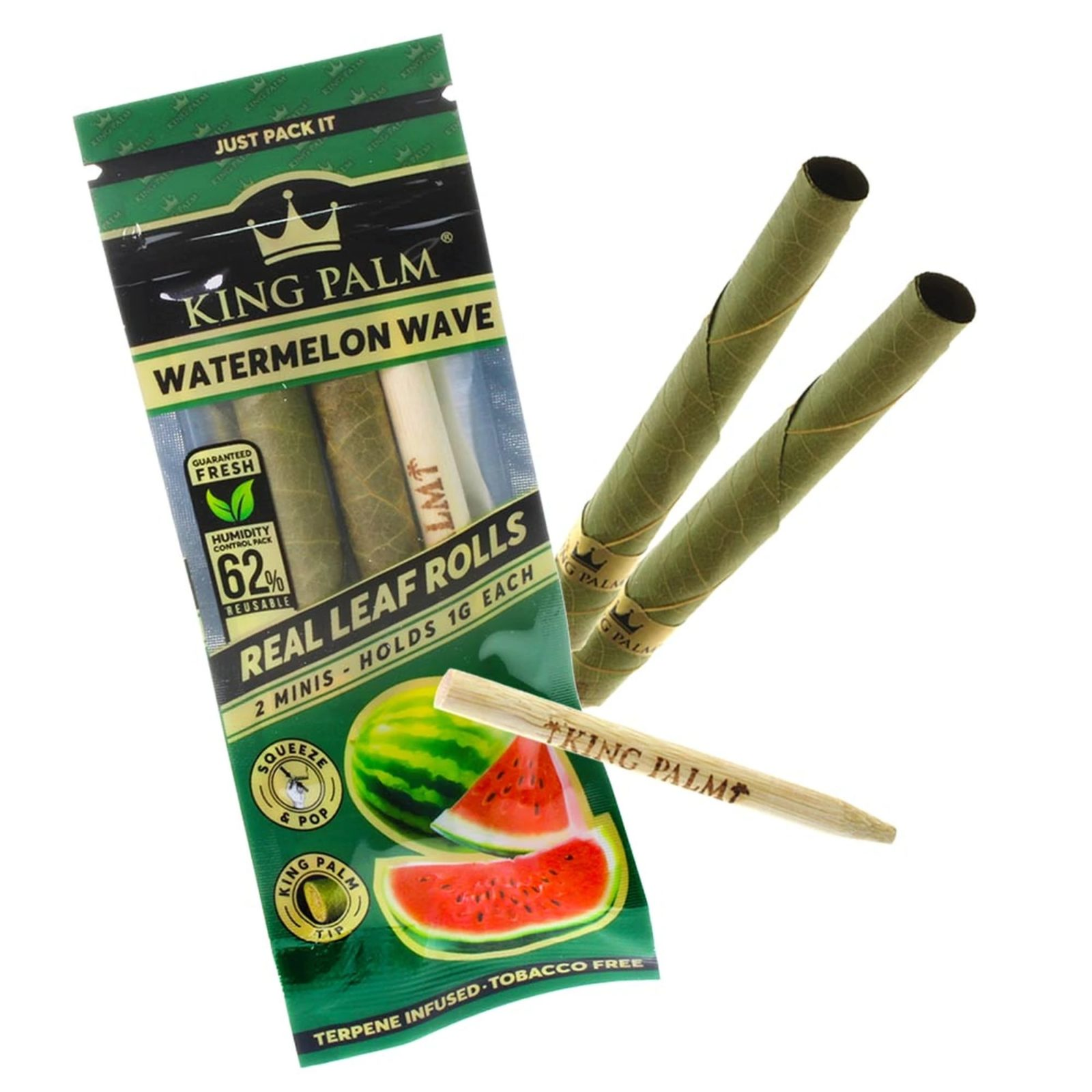 King Palm Watermelon Wave Terpene Infused Pre-Rolled Minis &Bull; 2021