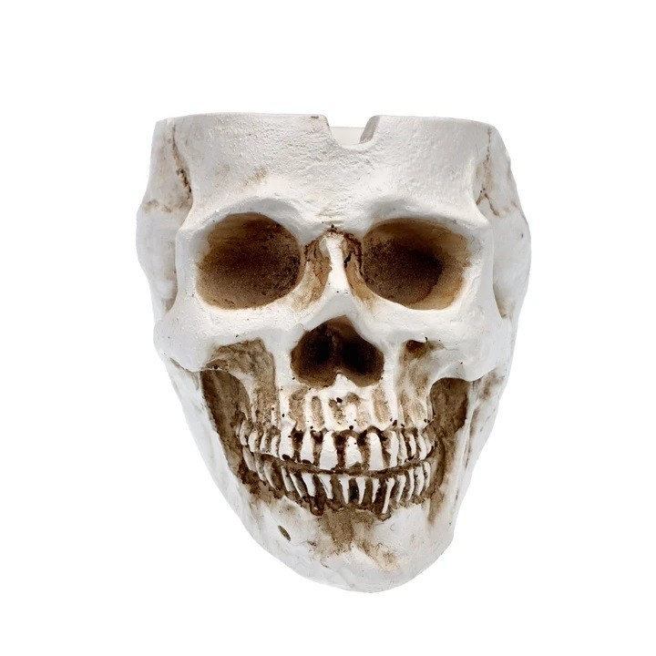 Resin Classic Skull Ashtray  HTC10CS