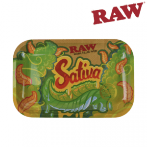 RAW SATIVA ROLLING TRAY – SMALL