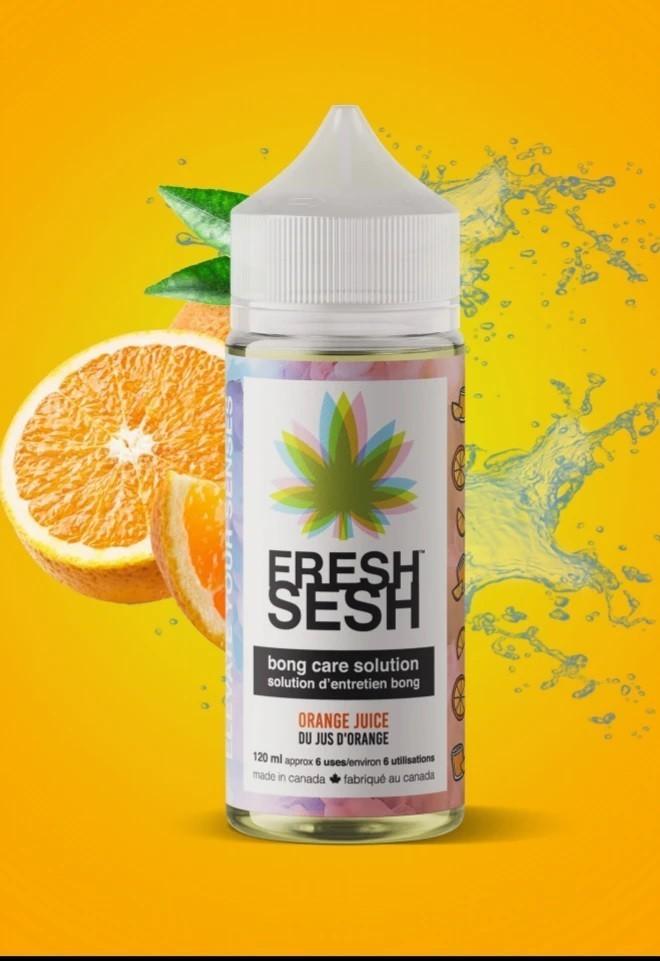 Fresh Sesh Bong Care Solution Orange Juice