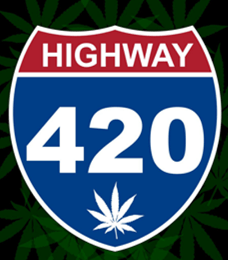 HIGHWAY 420 FLAG