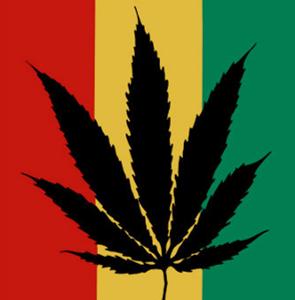 RASTA MARIJUANA LEAF FLAG