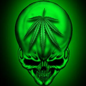 SKULL WEED FLAG