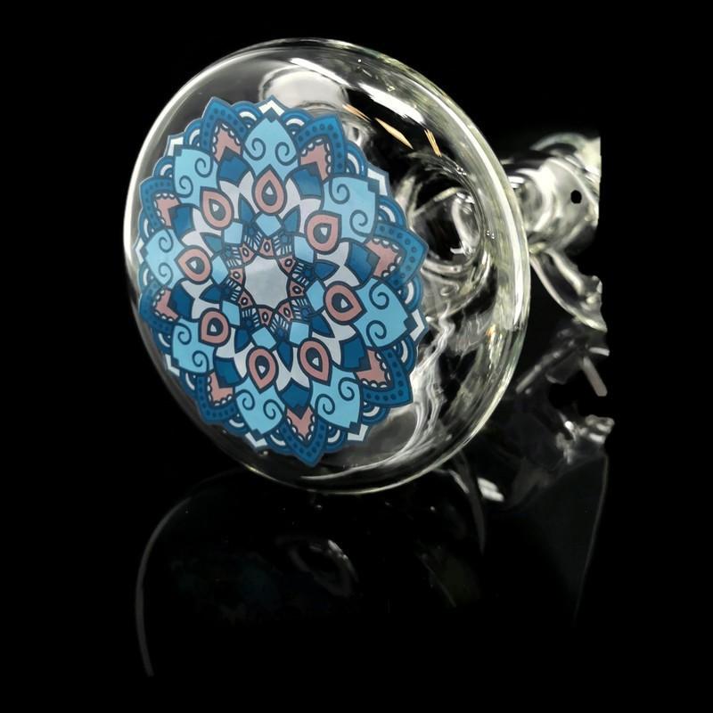 16.5″ 7MM Zig Zag Clear Soul Glass Bong/Zong (AK096-A)